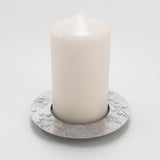 Pewter Blossom Pillar Candle Holder - Fly Jesse- Unique, special and quality gifts