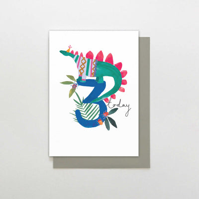 Stop The Clock Design 3 Today Dinosaur Birthday Card