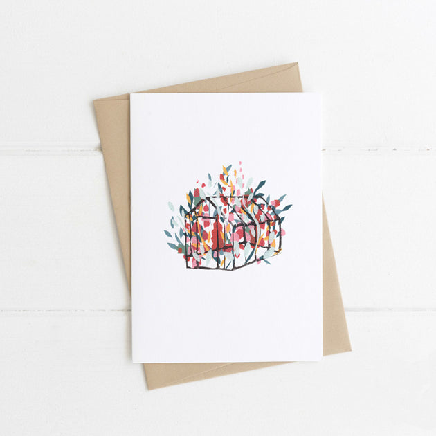 Watts Illustration Floral Greenhouse Card - Fly Jesse- Unique, special and quality gifts