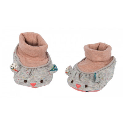 Moulin Roty Grey Mouse Baby Slippers