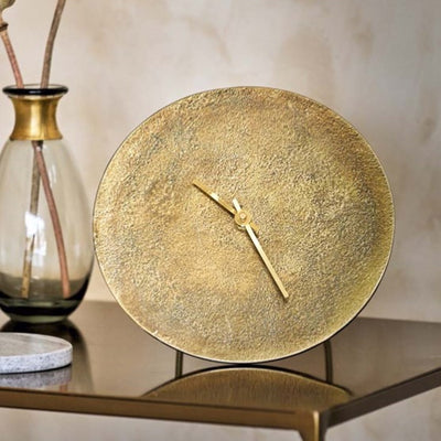 Okota Standing Clock in Antique Brass
