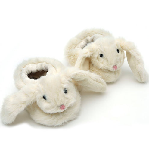 Cream Bunny Baby Slippers Aged 0-6 Months - Fly Jesse- Unique, special and quality gifts