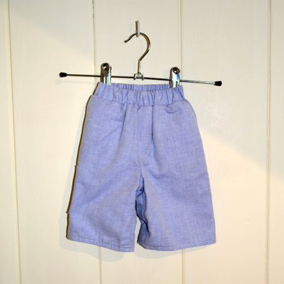 Ruth Lednik Blue Chambray Reversible Shorts - Fly Jesse- Unique, special and quality gifts