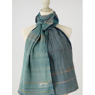 Letol Organic Cotton Desire Turquoise Marine Scarf - Fly Jesse- Unique, special and quality gifts