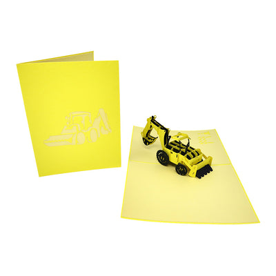 The Little Yellow Digger Pop Up Card