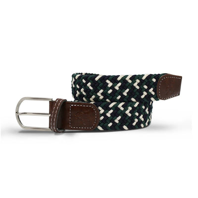 Swole Panda Navy, Green & White Zigzag Woven Belt