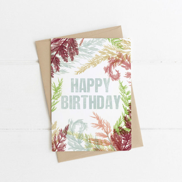 Watts Illustration Happy Birthday Card