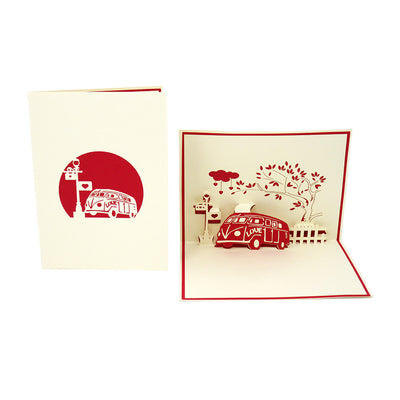Love Bus Pop Up Card - Fly Jesse- Unique, special and quality gifts