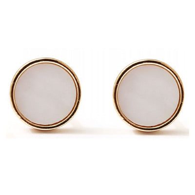Mother Of Pearl Round Stud Earrings - Fly Jesse- Unique, special and quality gifts