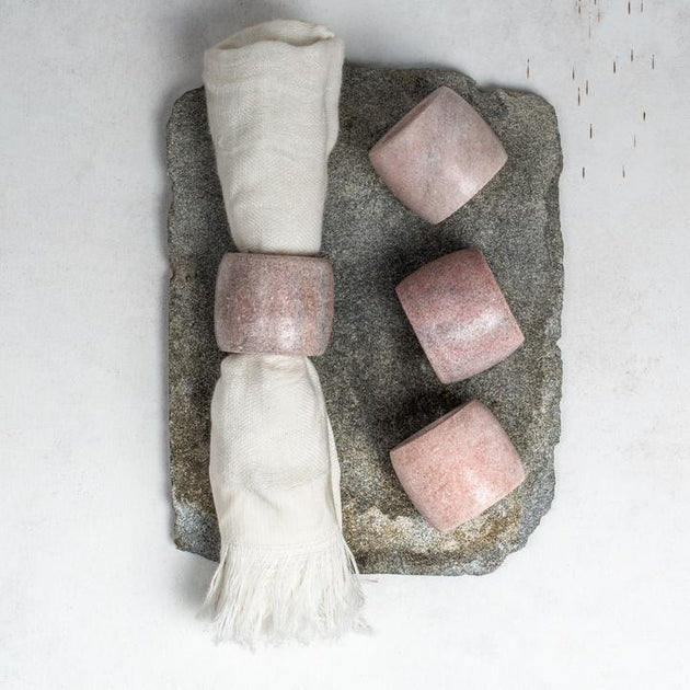 Makrana Napkin Rings (set of 4) - Pink - Fly Jesse- Unique, special and quality gifts