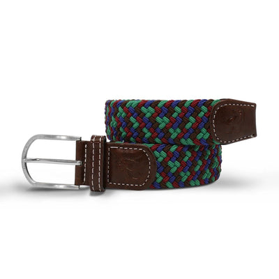 Swole Panda Blue, Green & Brown Zigzag Woven Belt