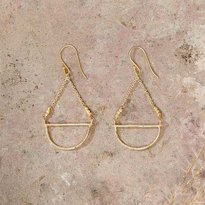 Nkuku Nuba Gold Earrings
