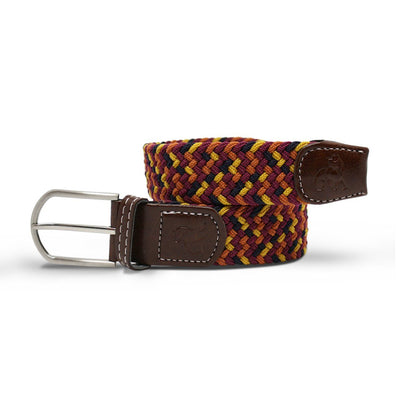 Swole Panda Orange & Yellow Zigzag Woven Belt