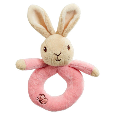 Flopsy Bunny Plush Ring Rattles - Fly Jesse- Unique, special and quality gifts