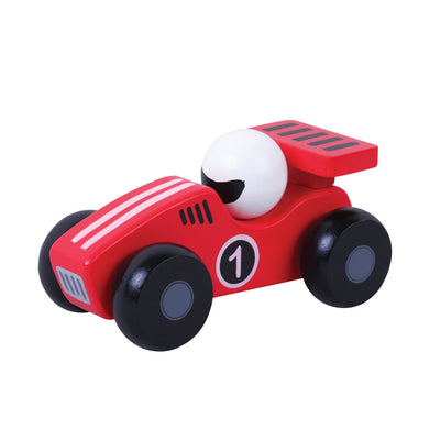 Wooden Red Racing Car - Fly Jesse- Unique, special and quality gifts