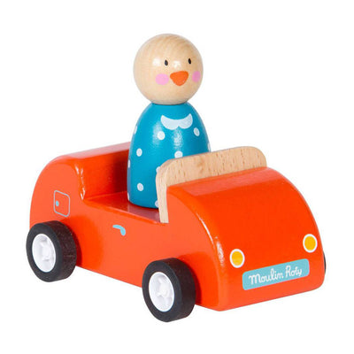 Moulin Roty Wooden Red Car