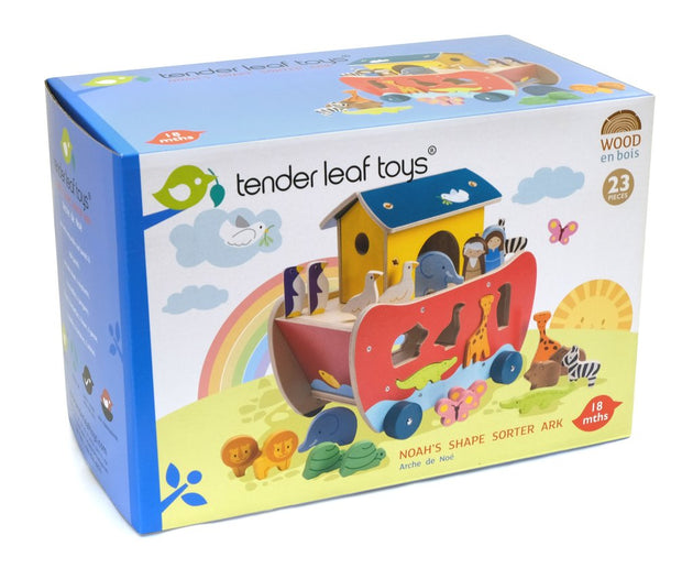 Noah's Ark Wooden Shape Sorter - Fly Jesse- Unique, special and quality gifts