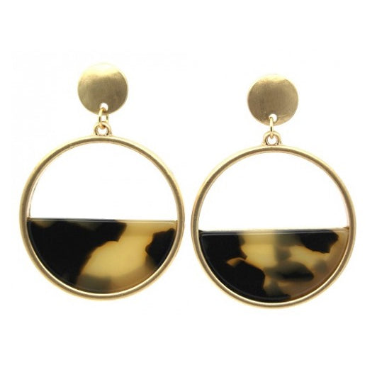 Tortoise Shell Resin Double Drop Earrings - Fly Jesse- Unique, special and quality gifts