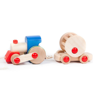 Bajo Wooden Red & Blue Choo-Choo Train
