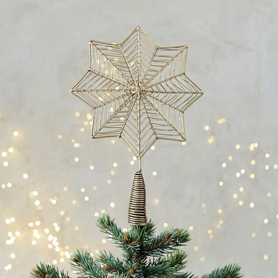 Nkuku Ngoni Giant Star Brass Tree Topper