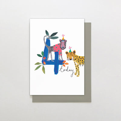 Stop The Clock Design 4 Today Animal Birthday Card