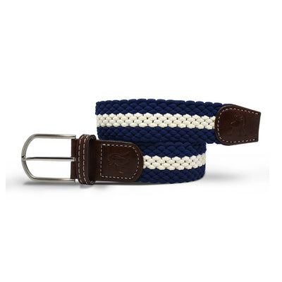 Swole Panda Blue & White Stripe Woven Belt