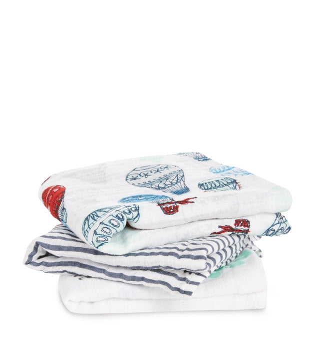 Aden & Anais Dream Ride Musy Muslin Squares - 3 Pack - Fly Jesse- Unique, special and quality gifts