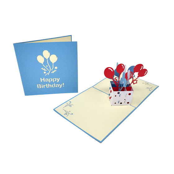 Box of Happy Birthday Balloons Pop Up Card - Fly Jesse- Unique, special and quality gifts