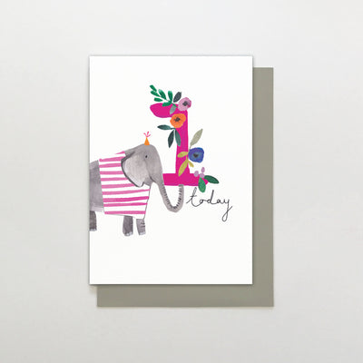Stop The Clock Design 1 Today Elephant Birthday Card