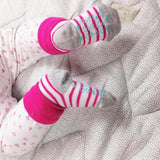 Pop Pink roll top Stay on Socks - Fly Jesse- Unique, special and quality gifts