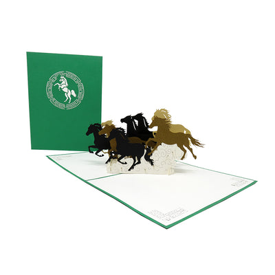 Galloping Wild Horses Pop Up Card - Fly Jesse- Unique, special and quality gifts