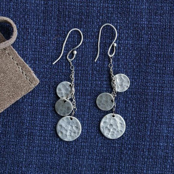 Nkuku Hanu Earrings - Silver - Fly Jesse- Unique, special and quality gifts