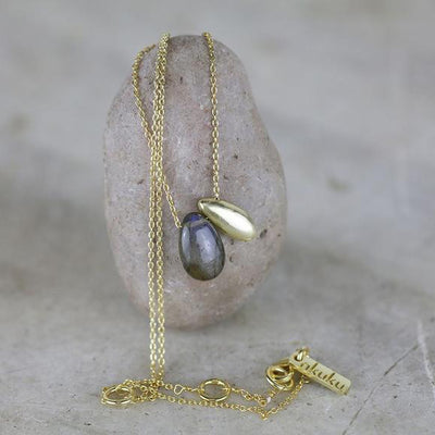 Nkuku Keebu Labradorite Necklace - Gold