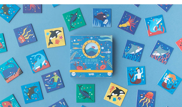 Londji Ocean Animals Memo Game - Fly Jesse- Unique, special and quality gifts