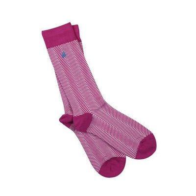 Swole Panda Chevron Pink Bamboo Socks - Men's