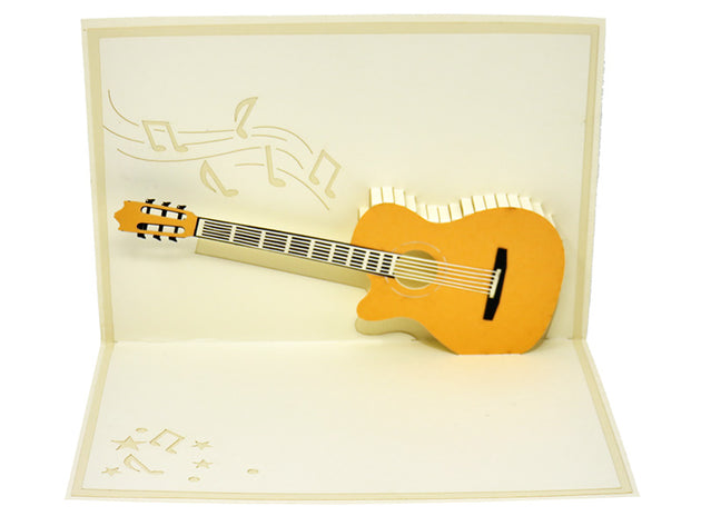 Acoustic Guitar Pop Up Card