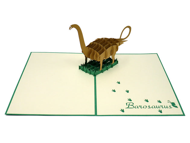 Barosaurus Pop Up Card