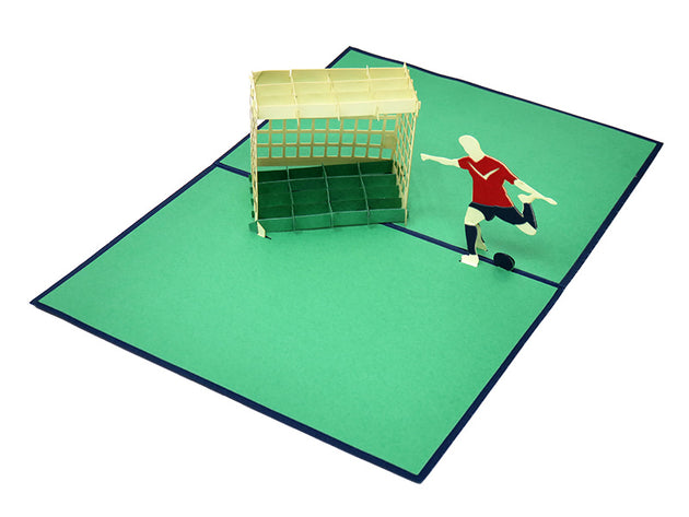 Scoring the Winning Goal Pop Up Card - Fly Jesse- Unique, special and quality gifts