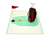 On the Putting Green Pop Up Card - Fly Jesse- Unique, special and quality gifts