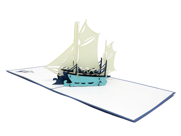 Sailing Yacht Pop Up Card - Fly Jesse- Unique, special and quality gifts