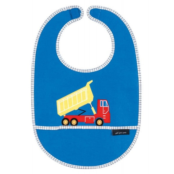 Coated Cotton Bib Chantier Blue with Lorry