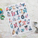 Inky Alphabet A To Z Animal Nursery Framed Print - Fly Jesse- Unique, special and quality gifts