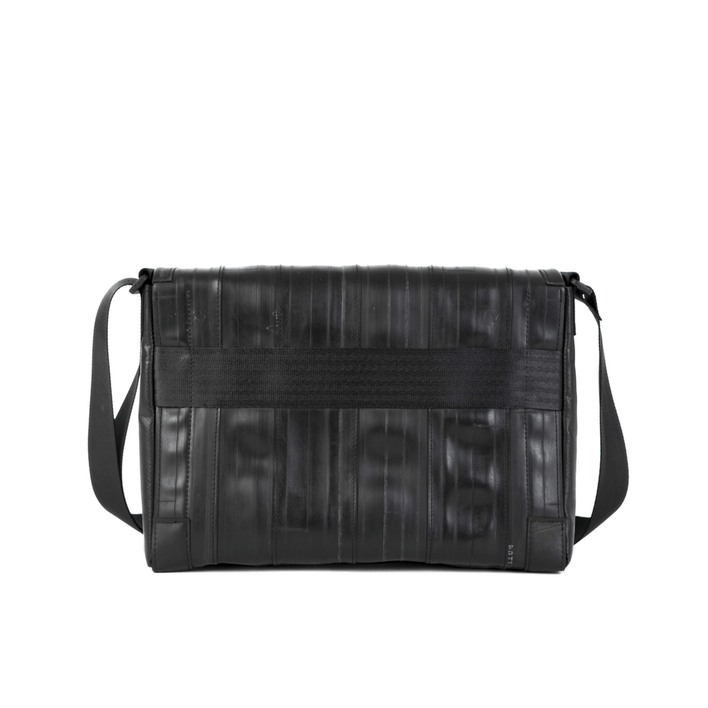 Recycled Inner Bike Tube Shoulder Bag, Vegan Messenger Bag