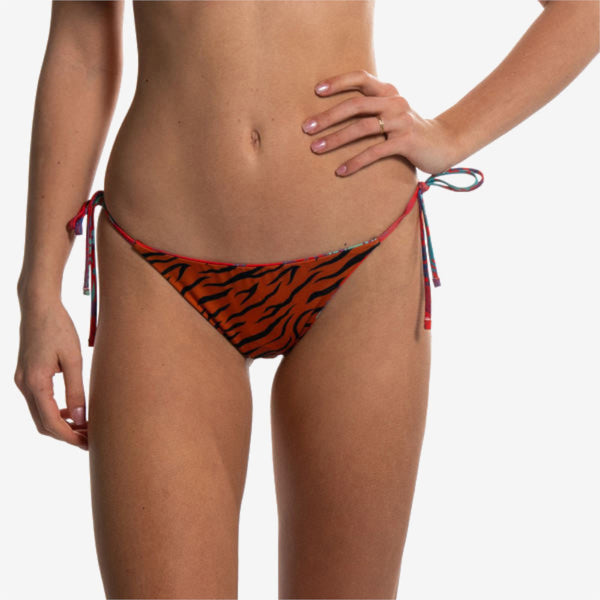 reversible brief red flower orange tiger slip reversibile front