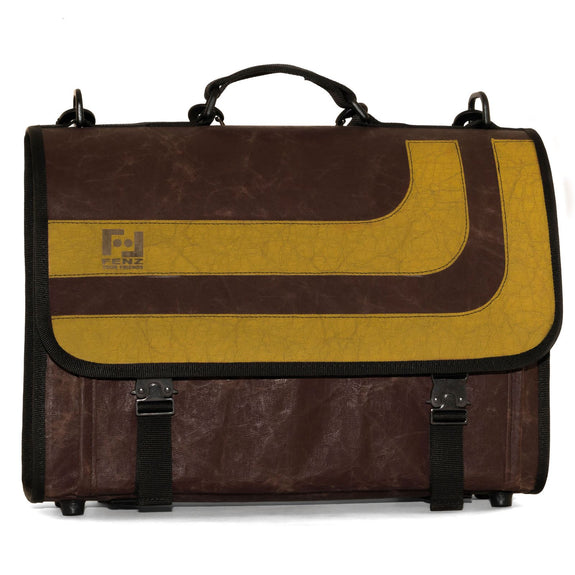 Borsa cartella in carta riciclata Old School Yellow