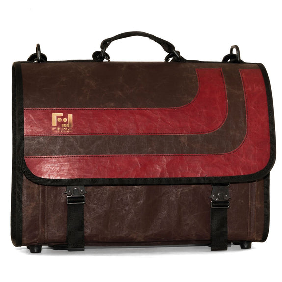 Borsa cartella in carta riciclata Old School Red