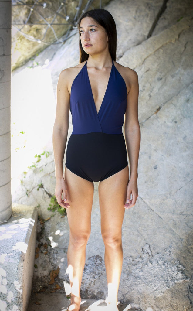 sustainable swimsuit zero waste fashion made in italy from regenerated nylon recycled fishing nets