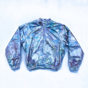 Nor Black Nor White Silver Shimma Bomber