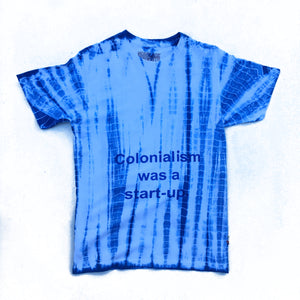 Nor Black Nor White Colonialism T-Shirt Blue