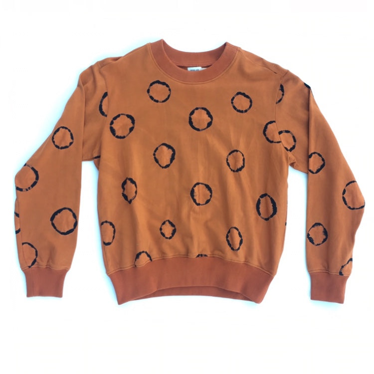 Nor Black Nor White Ring Sweatshirts Terracotta